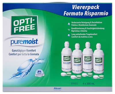 Picture of Alcon Opti-free Pure Moist (300 ml) * 4 + 60 ml