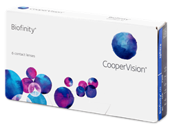 Picture of Biofinity monthly lenses 6 lenses per pack