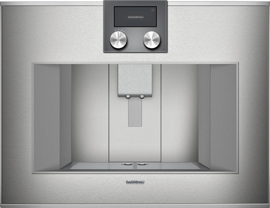 Picture of Gaggenau CM470111 - Fully automatic espresso machine 400 series - Stainless steel backed glass door - Width 60 cm - Operation top