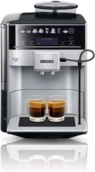 Picture of Siemens EQ.6 Plus s300 TE653501DE Fully Automatic Coffee Machine (1500 Watt, Ceramic Grinder, Touch Sensor Direct Dialing Buttons, Personalized Drink) Silver