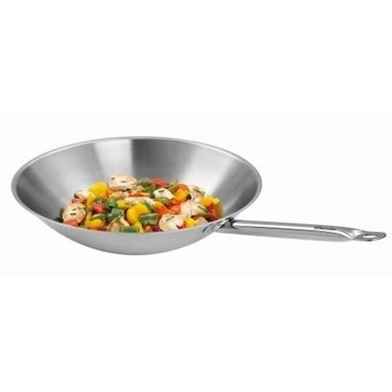 Picture of Bartscher wok pan stainless steel 36 cm (W385F)