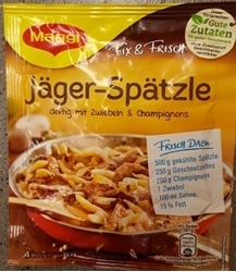 Picture of Ready-made Spaetzle Noodles in Champignon and Onions sauce MAGGI