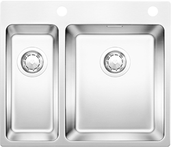 Picture of BLANCO Andano 340/18-IF / A Stainless steel sink InFino silk gloss with pull knob 522996