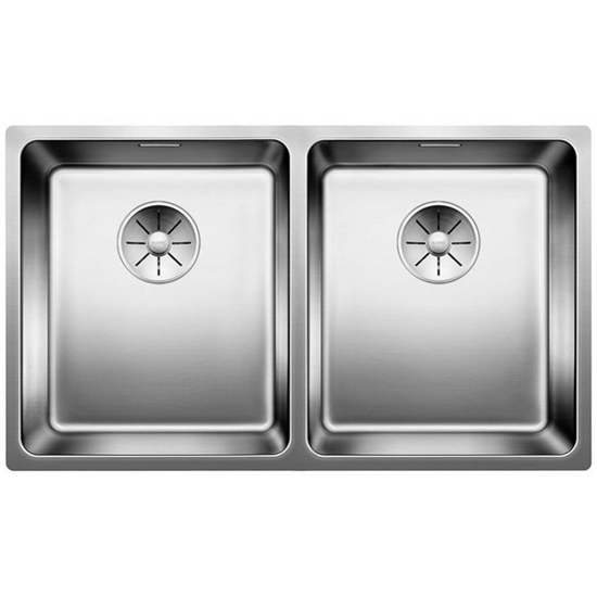 Picture of BLANCO Andano 340/340-IF stainless steel sink Infino silk gloss with pull knob 522982