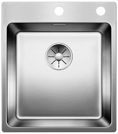 Picture of BLANCO Andano 400-IF / A stainless steel sink InFino silk gloss with pull knob 522993