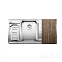 Picture of BLANCO AXIS III 6 S-IF Steamgar Edition stainless steel sink left 522109