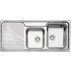Picture of BLANCO CLASSIC 8 S stainless steel sink silk gloss basin right 507643
