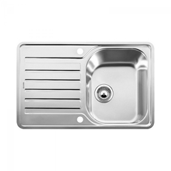 Picture of BLANCO LANTOS 45 S - IF Sink Compact Stainless Steel with eccentric brushed finish 519059