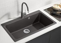 Picture of BLANCO NAYA XL 9 PuraDur² sink Silgranit o.AF, color: anthracite