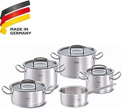 Picture of Fissler Original Professional Collection / Stainless Steel Cooking Pot Set with Glass Lid / Saucepans / Induction Gas, Electric, Ceramic