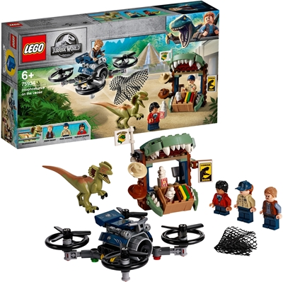 Picture of LEGO 75934 - Jurassic World Dilophosaurus on the curse, construction kit