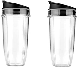 Picture of 2Pcs 24oz Mug & Lid Replacement Set, Fit for Nutri Ninja Auto IQ and Duo Blenders, BL480, BL490, BL640, and BL680