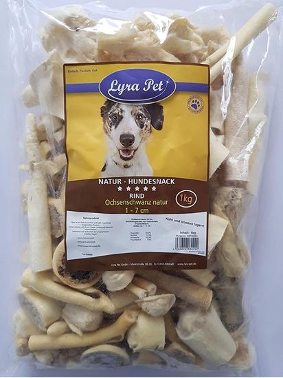 Picture of  Lyra Pet 10 kg Ox Tail 1-7 cm 10,000 g like Ox Zziemer Chew Item Dog Beef Chew Item Chew
