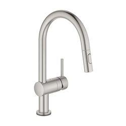 Picture of Grohe Minta Touch electronic kitchen faucet with pull-out supersteel spout (31358DC2)