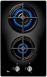 Picture of Teka CGB LUX 30 2G AL CI, black, integrated, gas hob, 2 zone