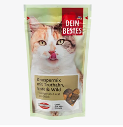 Picture of Snack for cats, crispy mix with turkey, duck & game, 65 g