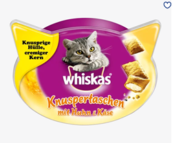 Picture of Snack for cats, crispy bags with chicken and cheese, 60 g