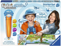 """Picture of Ravensburger tiptoi 00805 - CREATE starter set """"pen and world travel book"""""""