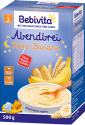 Picture of Bebivita Milk porridge evening porridge biscuit banana after the 4th month, 500 g