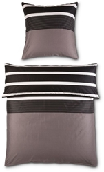 Picture of Janine JD 8468, Mako-Satin bed linen 07-nougat-black 135x200 + 80x80 cm,