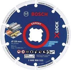 Picture of Bosch  X-LOCK diamond metal disc 125mm, cutting disc (Ø 125mm x 22.23)