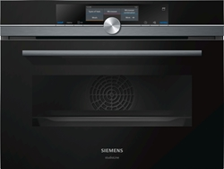 Picture of SIEMENS CN878G4B6 STUDIOLINE IQ700 MICROWAVE OVEN WITH STEAM SUPPORT BLACK