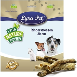 Picture of Lyra Pet 4 kg beef owls 4000 g approx. 30 cm trachea strokes windpipe reward dog chewy treats chew
