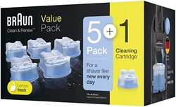 Picture of Braun Clean & Renew Electric Razor Replacement Cartridges 5+1 Pack