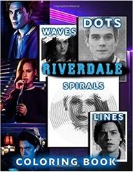 תמונה של נקודות קווים ספירלות גלי ספר צביעה Riverdale