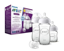 Picture of Philips Avent Natural Glass Bottle Set SCD303/01