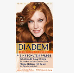 Picture of Schwarzkopf diadem Hair color autumn gold 721, 1 pc