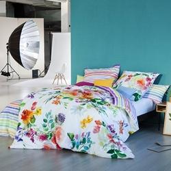 Изображение Estella Mako-Satin bed linen Flower Power multicolor 80x80 cm /135x200 cm-