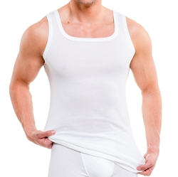 Picture of HERMKO 93015 2-PACK MEN'S UNDERSHIRT MADE OF ORGANIC COTTON, Size: EU M