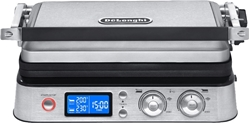 Picture of DeLonghi  MultiGrill CGH1030D, contact grill (silver / black, 2,000 watts)