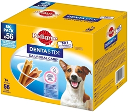 Picture of Pedigree Snack for dogs, dental care Dentastix for small dogs, multipack 8x7 pieces, 880 g