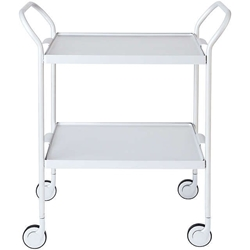 Picture of Kaymet Modern Tea Trolley with 2 Trays, 35cm, Silver