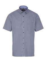 Picture of ETERNA HALF SLEEVE SHIRT MODERN FIT NAVY / WHITE