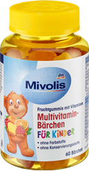 Picture of Mivolis Multivitamin bears for children, fruit gums, 60 pieces, 120 g
