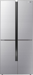 Picture of Gorenje NRM8182MX side-by-side combination, 79.4cm wide, 427L, Cross Door, NoFrost Plus, LED display, stainless steel