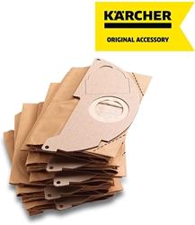 תמונה של Kärcher - 5 x שקיות נייר סינון לשואב אבק של מים ואבק - תואם ל: A2000 עד A2099 ו- WD2.000 עד WD2.399 - Ref 6.904 - 322.0, 69043220