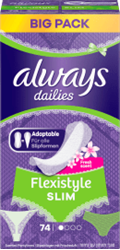 Picture of always Panty liners Flexistyle Slim with fresh scent, 74 pcs