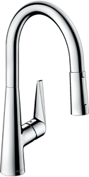 Picture of Hansgrohe Talis M51 single lever kitchen mixer 200, chrome, with pull-out spout 72813000