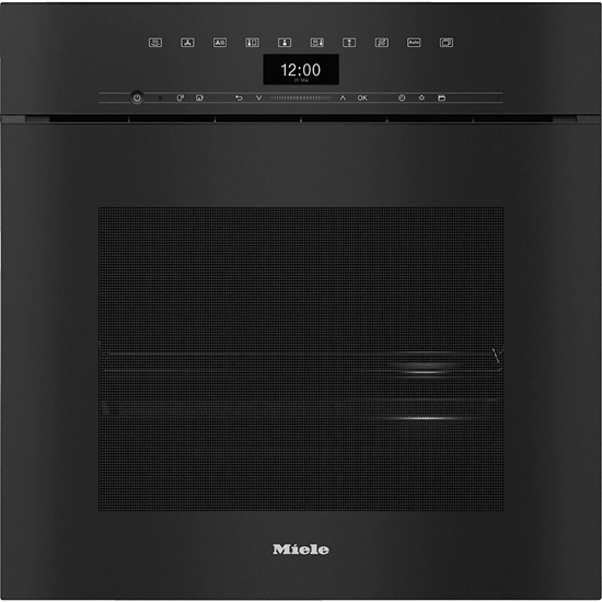Picture of MIELE DGC 7460X, OBSIDIAN BLACK HANDLE-FREE COMBI STEAMER XXL