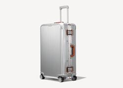 Picture of RIMOWA Original Check-In L Twist in silver & brown suitcase