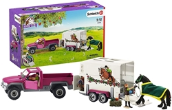 Picture of Schleich pick-up with horse trailer (42346)
