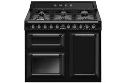 Picture of Smeg 100cm Traditional Dual Fuel Range Cooker TR103BL, Black