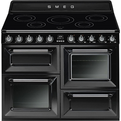 Picture of SMEG TR4110 IBL cooking center, induction hob, black, 110 cm