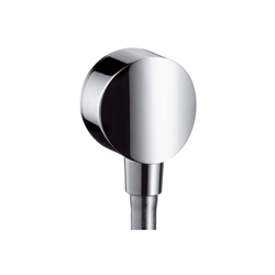 Picture of hansgrohe Fixfit S hose connection 26453000 DN 15, with backflow preventer and plastic angle, chrome