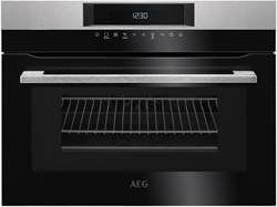 Picture of AEG KMK761000M compact oven with microwave, 45cm high