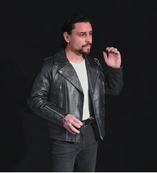 Picture of Bradley Babushka Perfecto Leather Jacket